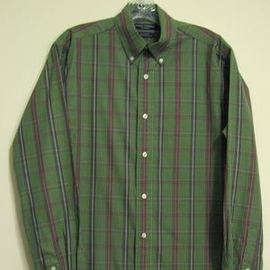 DANIEL CREMIEUX CLASSICS Small Green Plaid  Shirt
